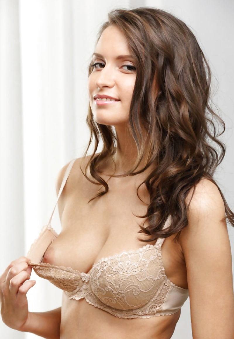 Big nipples sheer bra