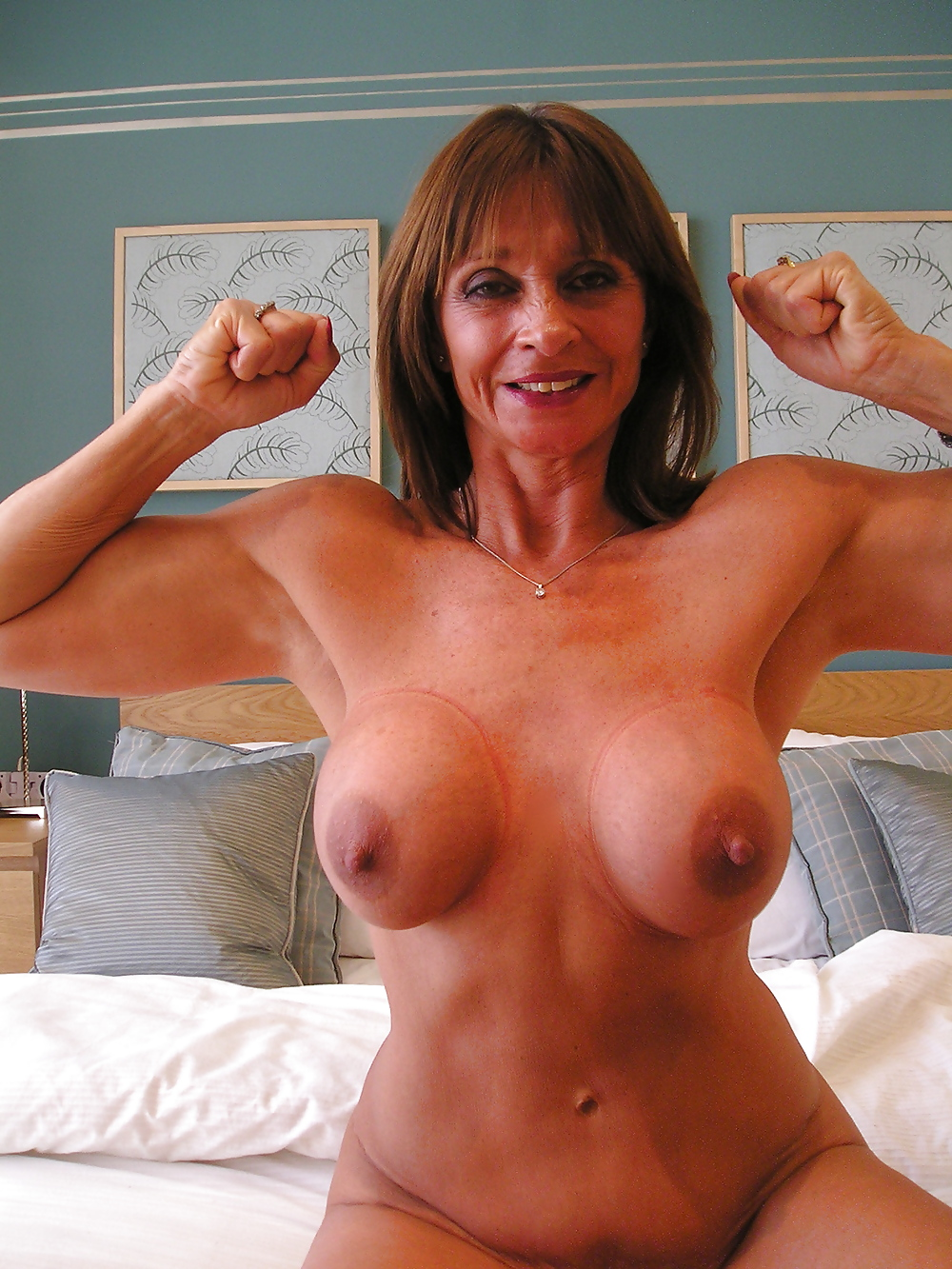 Mature Brunette Fake Tits