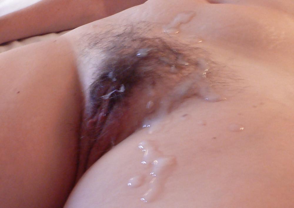 Частные фото много спермы на лобке и писе, присоска в пизде