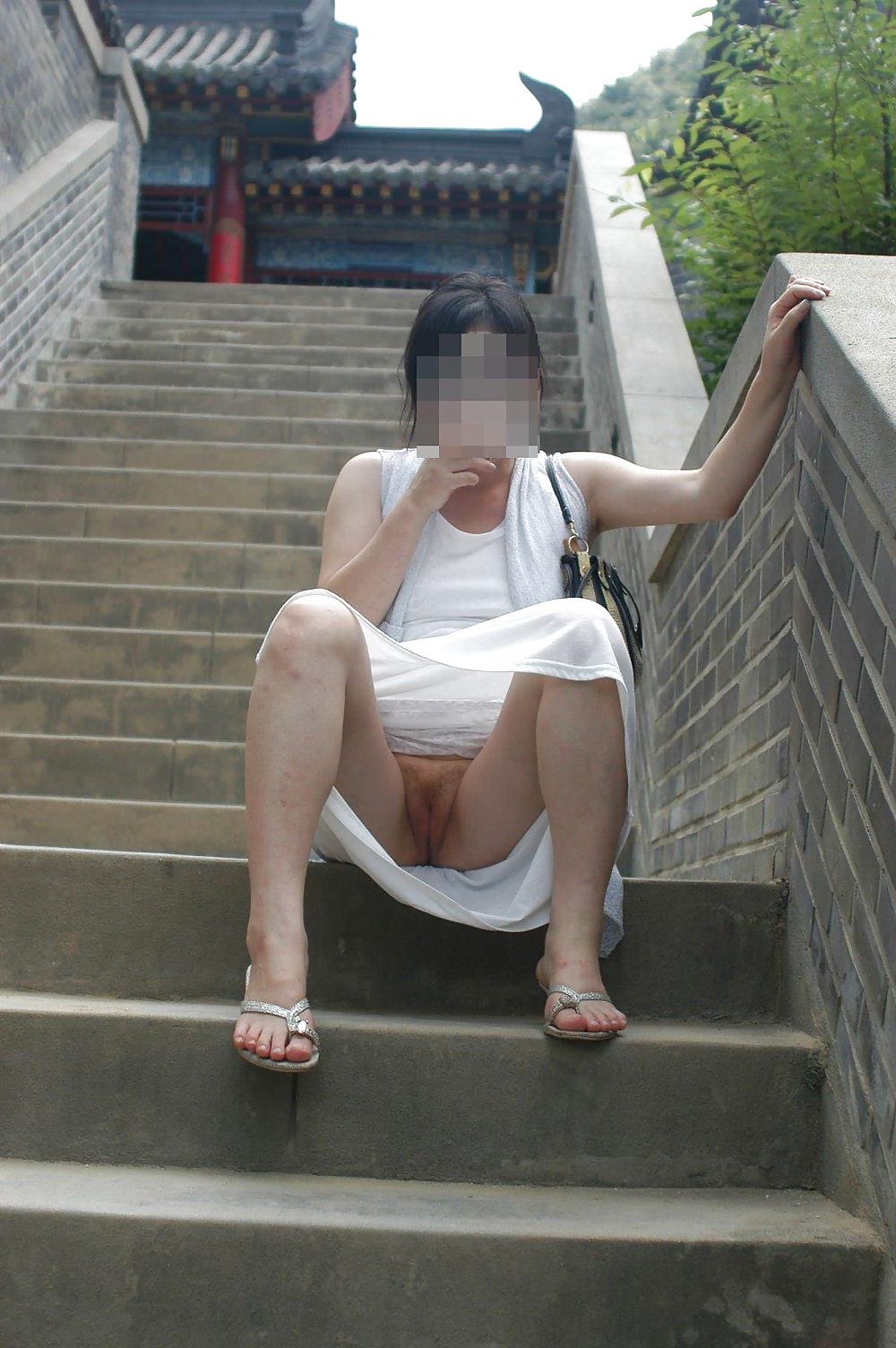 Asian Schoolgirl Pussy Slip