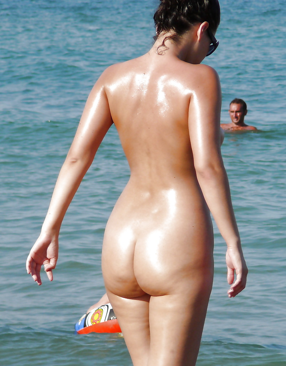 Teen nude booty on beach #5