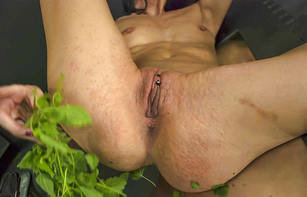 Cervix Torture With Stinging Nettles Into Uterus