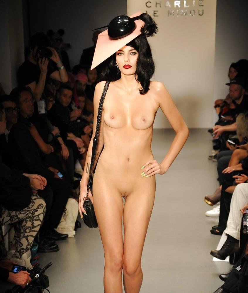 Naked on catwalk