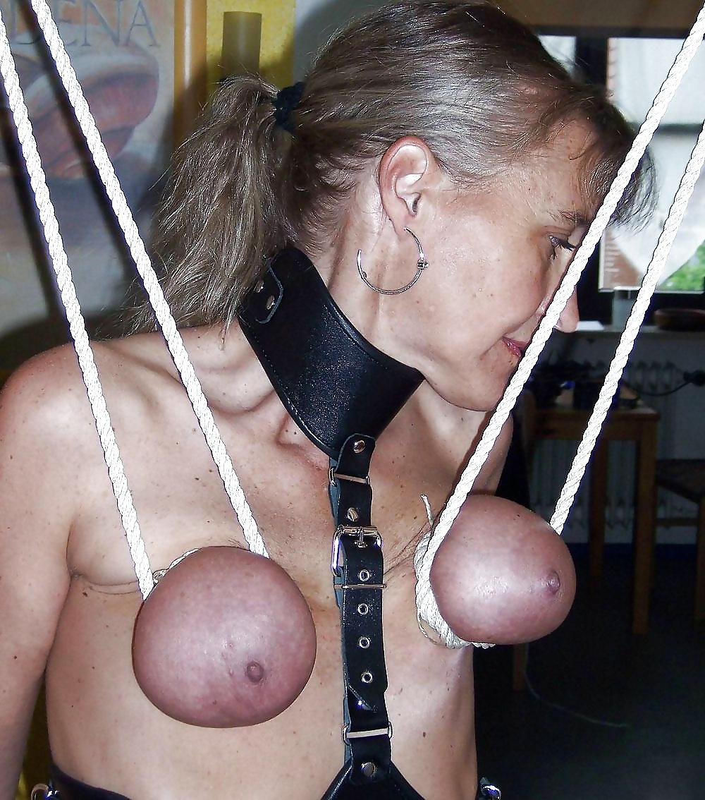 purple bondage Extreme tits