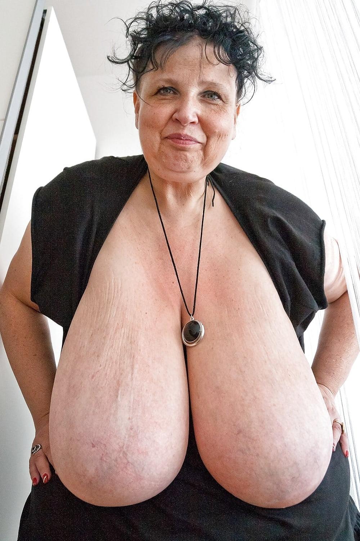 Big old lady tits