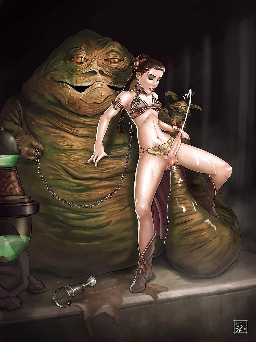Free Slave Leia And Jabba The Hutt