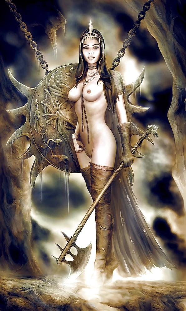 Original pinup fantasy arabian nights art nude girl female woman painting pin up