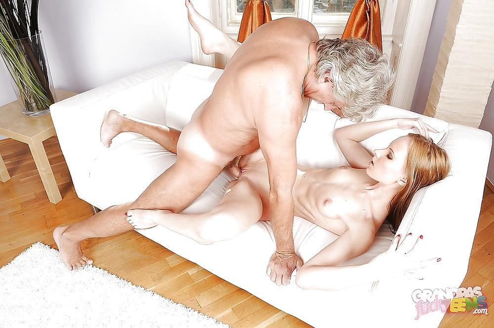Big tits girl fucks with horny grandpa
