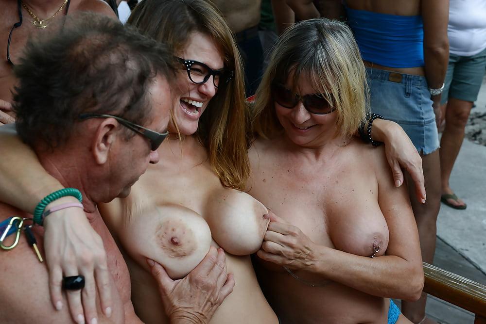 Bikini photo adult groping public