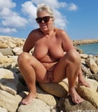 BBW matures and grannies at the beach 468