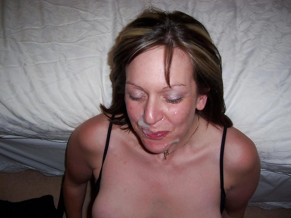 Busty amateur milf facial