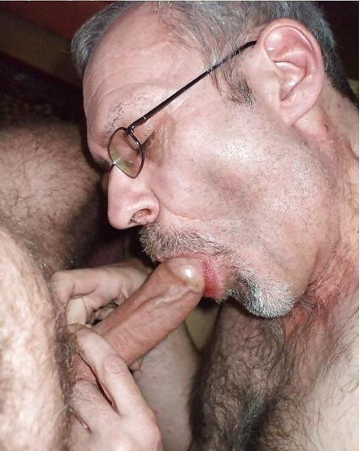 Old man getting blowjob