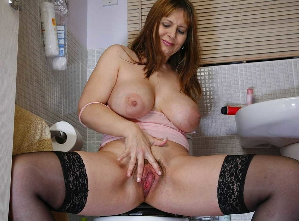 Horny Blonde Housewife With Big Tits