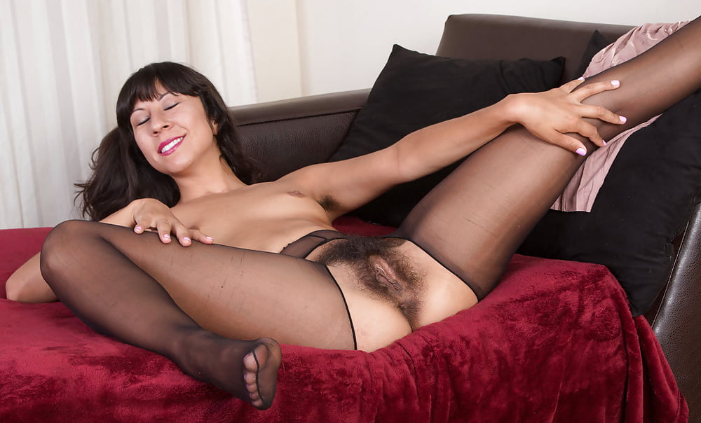 Hairy pantyhose video