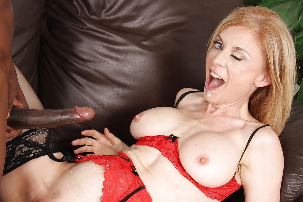 Hot mature cum on black stockings — photo 11