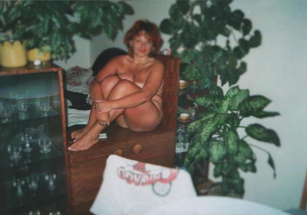Hot mature with big saggy tits