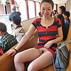 Chinese  Posing Flashing In Public - amateur