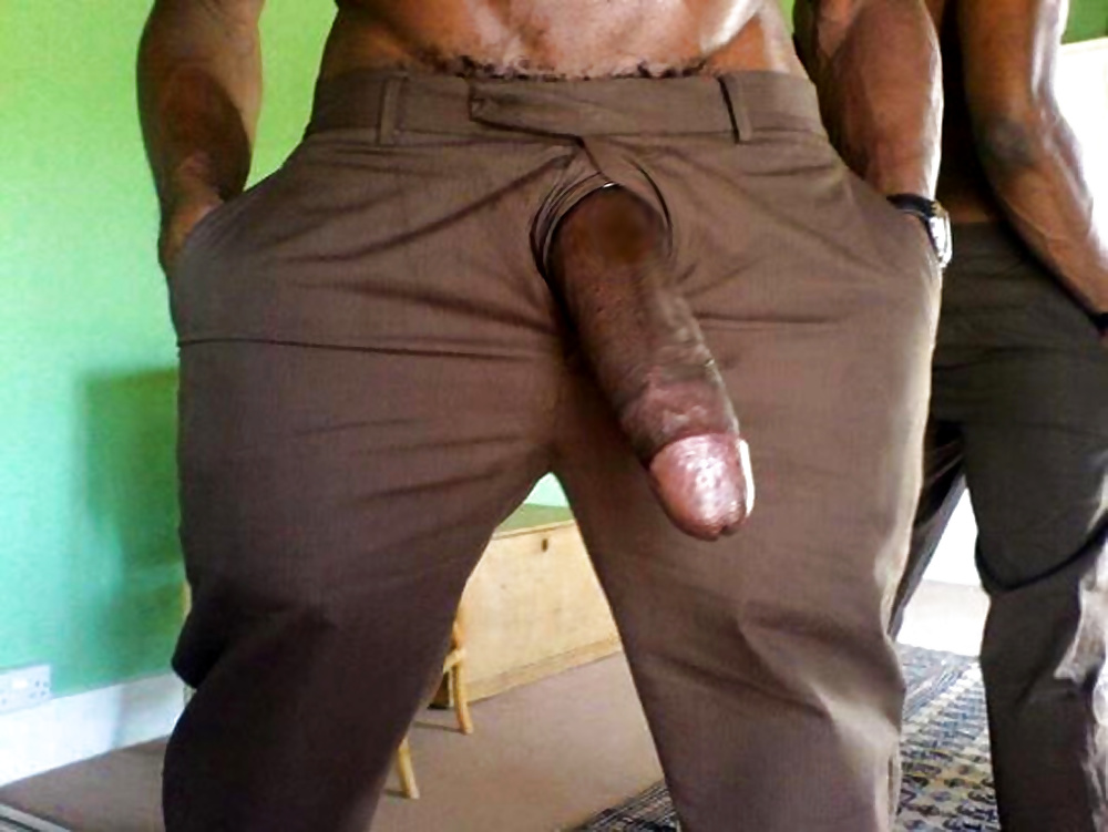 Huge cock in pants