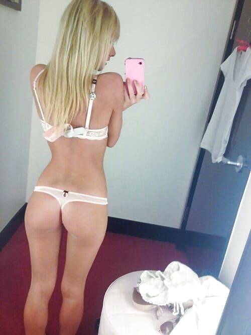 sexy naked thong selfie