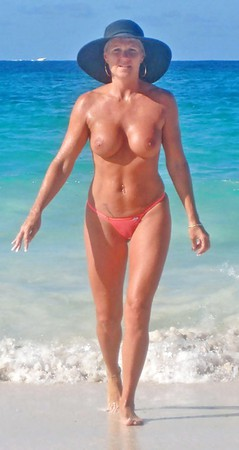 Granny In Bikini