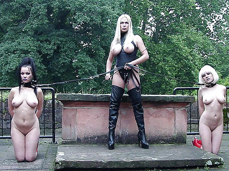 Group bdsm outdoor