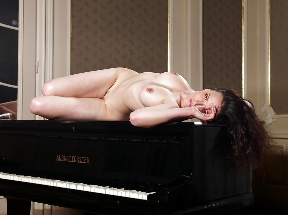 Naked girls on pianos