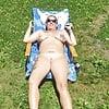 wife enjoying the sun