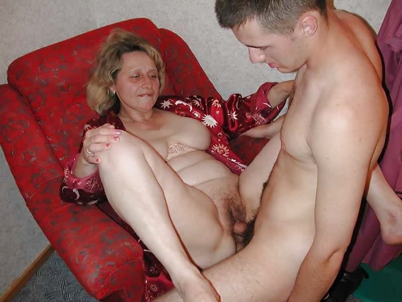 Christmas milf gives son great present