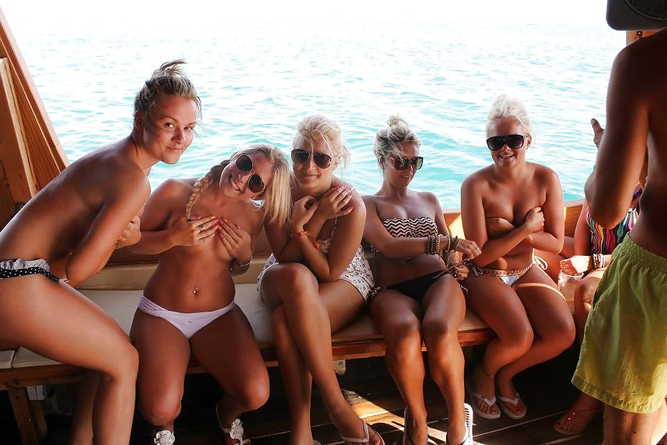 Boat party tits
