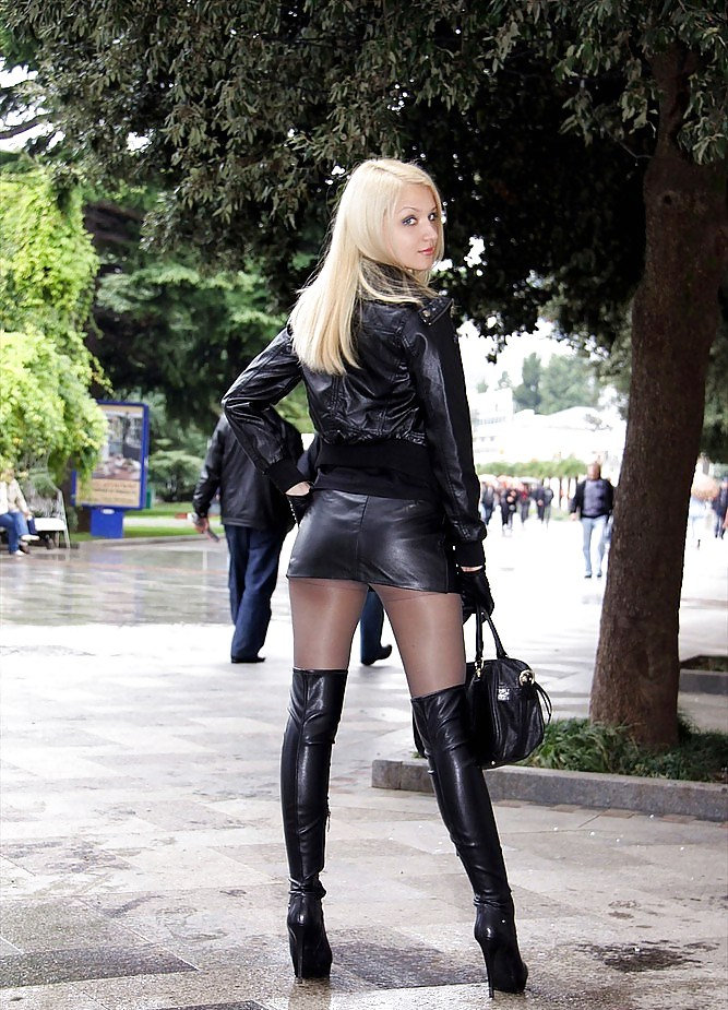 Girl boots leather sexy slut 14