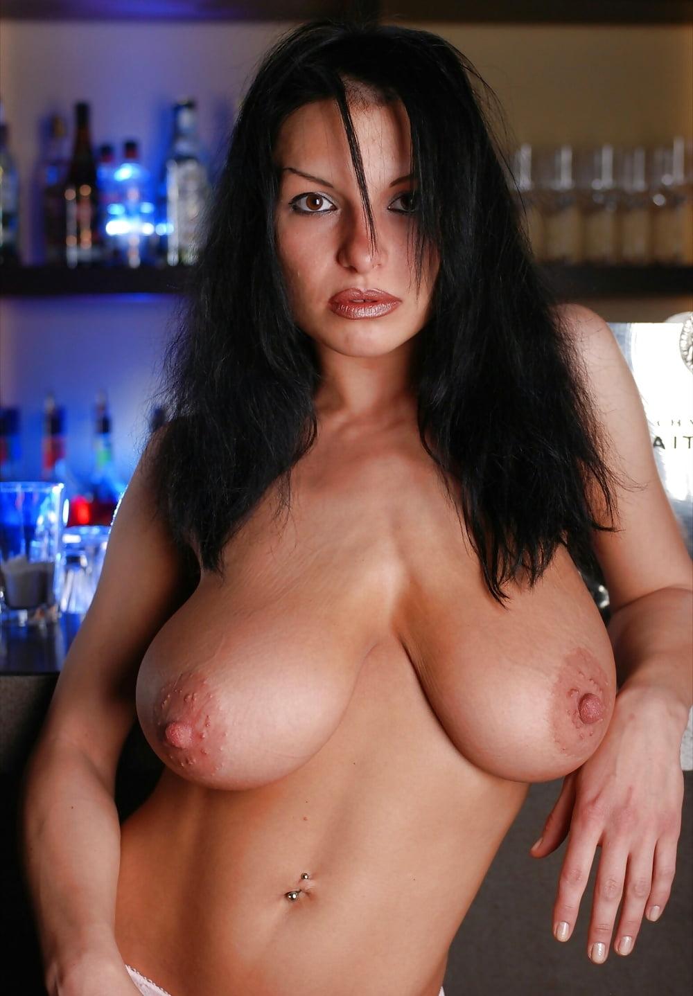 Brunette milf huge tits