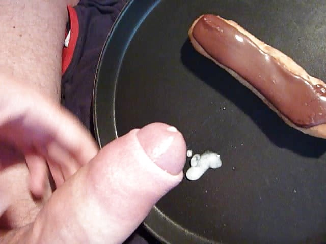Cum on food femdom cuckold