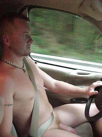 Men Driving Nude
