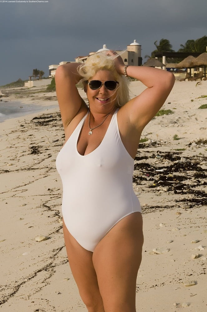 Mature women in one piece swimsuits