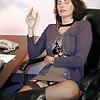 Brunette MILF Gabrielle Leather Harness