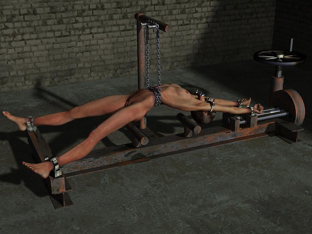 Male bondage torture rack