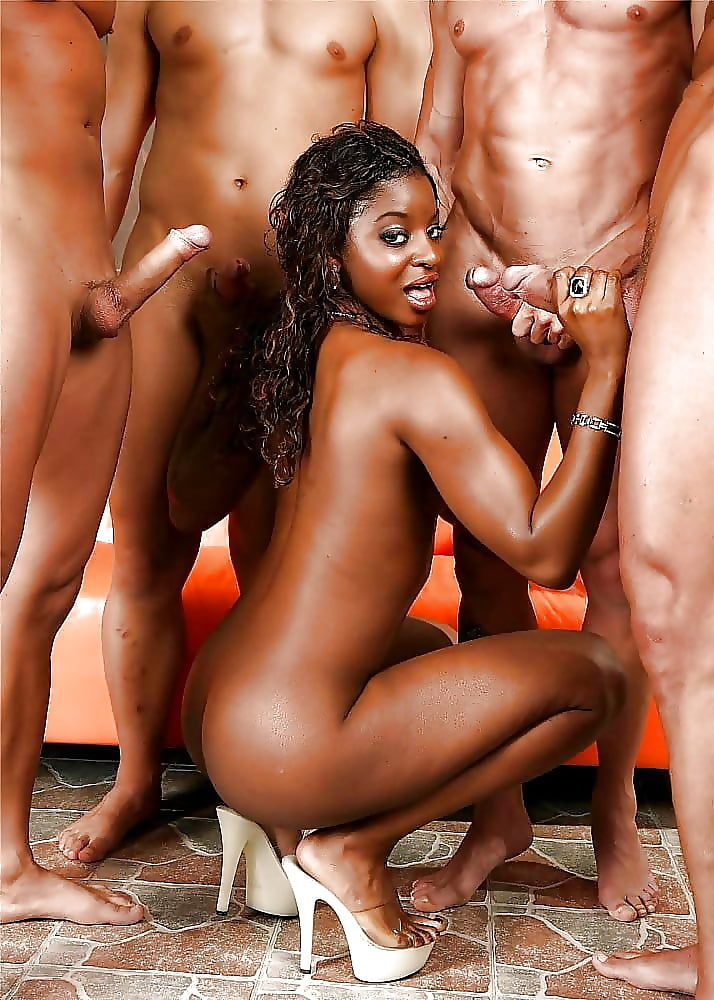 Ebony gangbang video