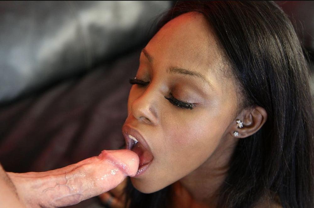Ebony girls suck white cock