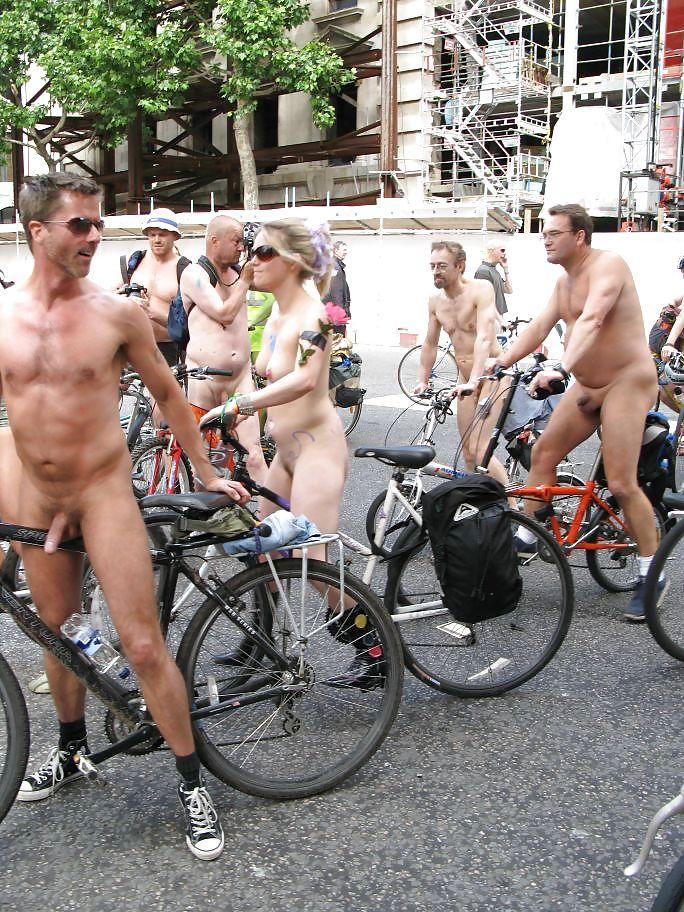 Man Naked Torso Rides Bicycle Rain Kyiv Editorial Stock Photo