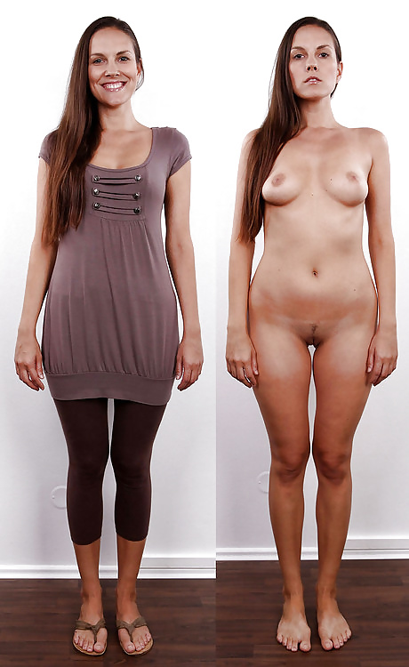 Girls clothed unclothed nude photos — pic 14
