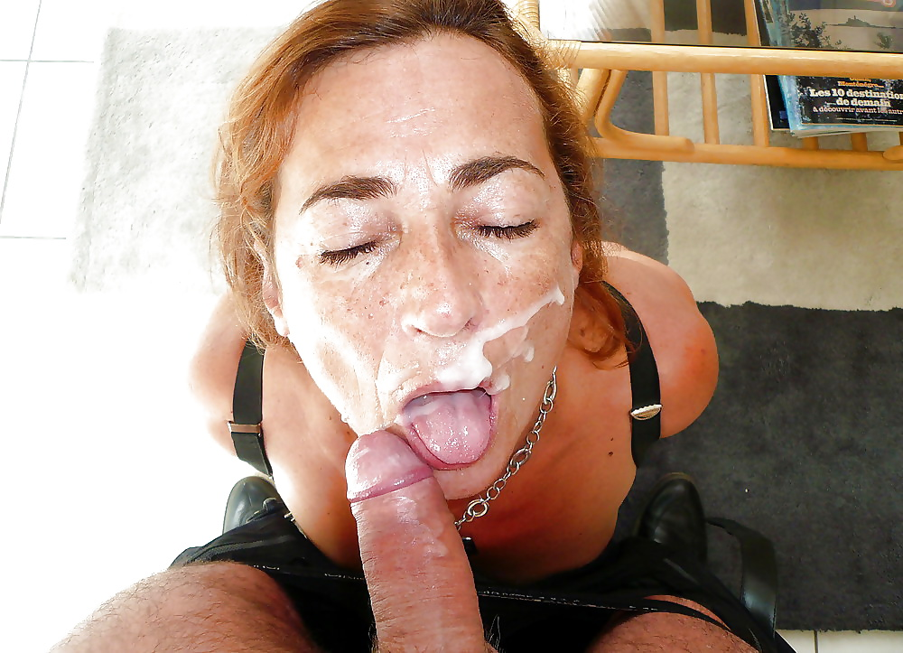 Distended mature latina cum swallowers